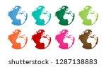 globe   world   earth  | Shutterstock .eps vector #1287138883