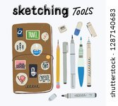set of tools for urban... | Shutterstock .eps vector #1287140683