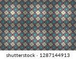 geometric raster template.... | Shutterstock . vector #1287144913
