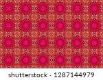 geometrical simple raster art.... | Shutterstock . vector #1287144979
