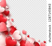 valentines day abstract... | Shutterstock .eps vector #1287145843