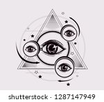 abstract geometric pattern.... | Shutterstock .eps vector #1287147949