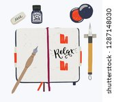 layout with tools for... | Shutterstock .eps vector #1287148030