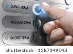 man pushing an elevator buttons ... | Shutterstock . vector #1287149143