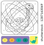 cute dino coloring page for... | Shutterstock .eps vector #1287163069