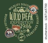 wildlife outdoor adventure kids ... | Shutterstock .eps vector #1287165700