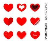 heart mini red   Shutterstock .eps vector #1287177340