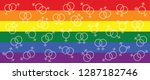 love is love month red ribbon...   Shutterstock .eps vector #1287182746