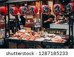 osaka  japan   22 april  2018 ... | Shutterstock . vector #1287185233
