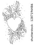 elegant decorative heart frame...   Shutterstock .eps vector #1287196486
