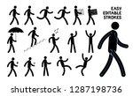 easily editable pictogram man.... | Shutterstock .eps vector #1287198736