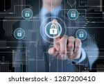 the concept of cybersecurity | Shutterstock . vector #1287200410