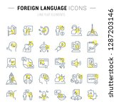 set of vector line icons and... | Shutterstock .eps vector #1287203146