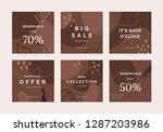 set of 6 hand drawn vector... | Shutterstock .eps vector #1287203986