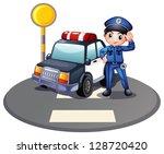 Illustration Of A Patrol Car...