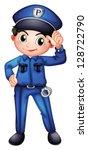 Illustration Of A Policeman...