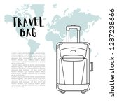travel bag flat vector...   Shutterstock .eps vector #1287238666