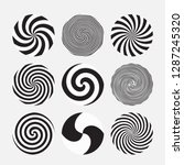 vector swirl set. various... | Shutterstock .eps vector #1287245320