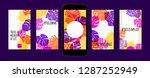 stories template design. tropic ... | Shutterstock .eps vector #1287252949