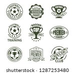 set of isolated vintage... | Shutterstock .eps vector #1287253480