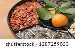 lunar new year snack tray   Shutterstock . vector #1287259033