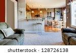 living room interior near... | Shutterstock . vector #128726138