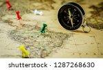 green pushpin marking a...   Shutterstock . vector #1287268630