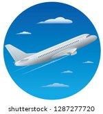 illustration of flying... | Shutterstock .eps vector #1287277720
