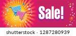 sale banner. supermarket... | Shutterstock .eps vector #1287280939