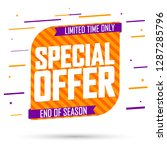 special offer  sale banner... | Shutterstock .eps vector #1287285796
