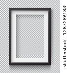 photo realistic square black... | Shutterstock .eps vector #1287289183