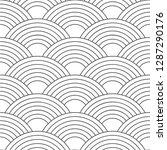 seamless pattern. wave. fish... | Shutterstock .eps vector #1287290176