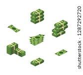 various money bills dollar cash ...   Shutterstock .eps vector #1287292720