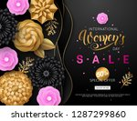 women's day sale banner with... | Shutterstock .eps vector #1287299860