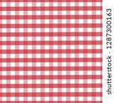 classic red gingham checkered... | Shutterstock .eps vector #1287300163