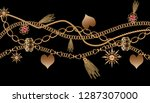 chain jewelry and tassel... | Shutterstock . vector #1287307000