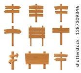 wooden pointers signboards set... | Shutterstock .eps vector #1287309346