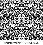 black seamless pattern ... | Shutterstock . vector #128730968