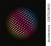 colored dots spherical 3d... | Shutterstock .eps vector #1287313810