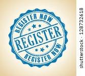 vector register now seal | Shutterstock .eps vector #128732618