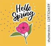 hand drawn lettering slogan... | Shutterstock .eps vector #1287326659