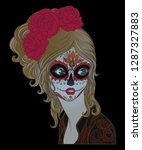 day of the dead girl  | Shutterstock . vector #1287327883