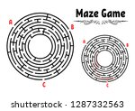 abstract round maze. game for... | Shutterstock .eps vector #1287332563
