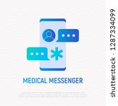 medical messenger gradient flat ... | Shutterstock .eps vector #1287334099