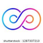 design elements. infinity sign... | Shutterstock .eps vector #1287337213