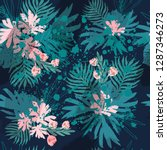 fashion tropical floral... | Shutterstock .eps vector #1287346273