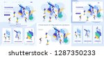 set template article  landing... | Shutterstock .eps vector #1287350233