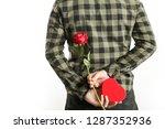image of the romantic guy... | Shutterstock . vector #1287352936