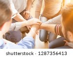 close up view of group of... | Shutterstock . vector #1287356413