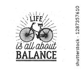 logo life is all about balance. ... | Shutterstock .eps vector #1287357610